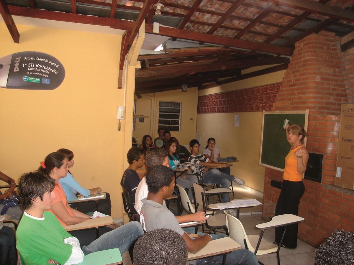Sala de aula da primeira da Sede